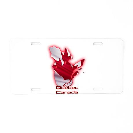 Quebec, Canada Aluminum License Plate