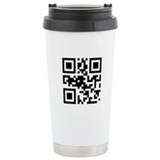 'Input Beer Here' QR Code Travel Mug