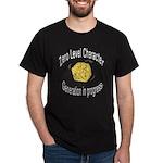 "d20 ""0 level character generation"" Black T-Shirt"