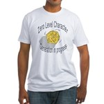 """d20 """"0 level character generation"""" Fitted T-Shirt"""