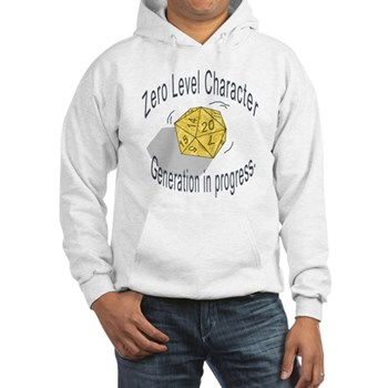 "d20 ""0 level character generation"" Hooded Sweatshi"