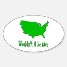 Wouldn't it be nice Sticker (Oval)