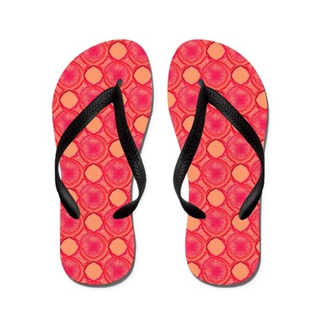 Pink Bubble Pattern College 47 Sandals Flip Flops