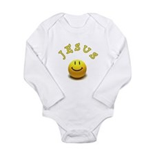 Jesus Smile Long Sleeve Infant Bodysuit