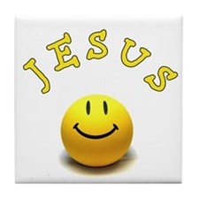 Jesus Smile Tile Coaster