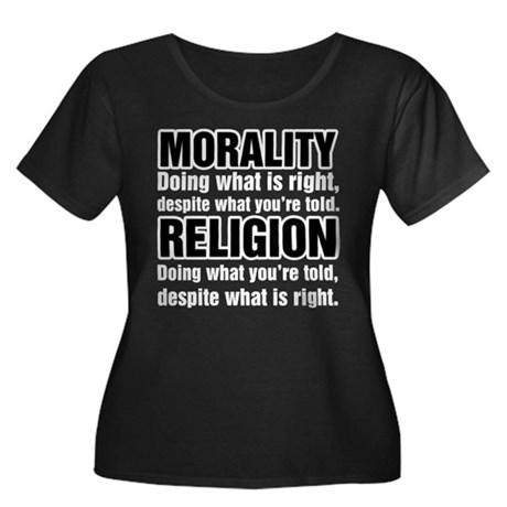 Morality What is Right Women's Plus Size Scoop Nec