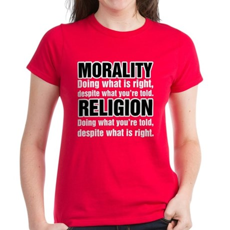 Morality What is Right Women's Dark T-Shirt