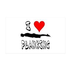 I heart Planking 38.5 x 24.5 Wall Peel