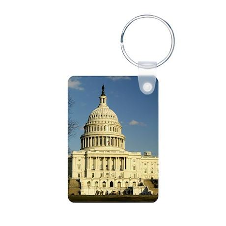 Capital Building Aluminum Photo Keychain