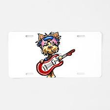 Yorkie Rocker Aluminum License Plate