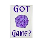 d20 Got Game? Rectangle Magnet