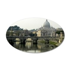 Vatican City 22x14 Oval Wall Peel