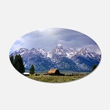 Grand Tetons National Park 22x14 Oval Wall Peel