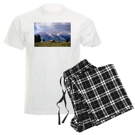 Grand Tetons National Park Men's Light Pajamas