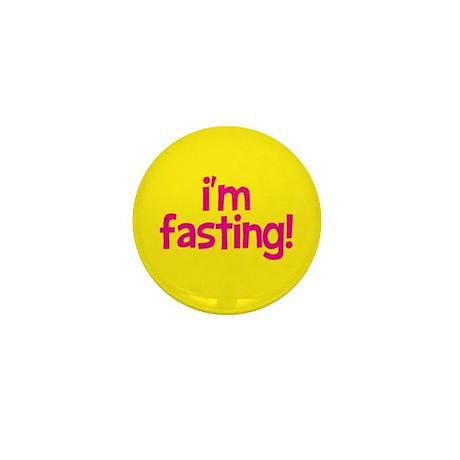 Fasting Mini Button (pink+yellow)