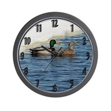 Mallard Pair Wall Clock