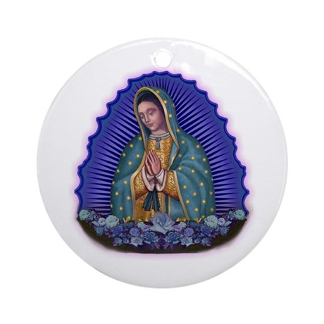 Lady of Guadalupe T6 Ornament (Round)