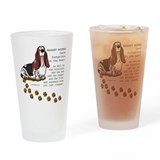 Bassett hound Pint Glasses