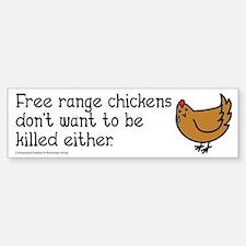 Free Range Chicken Vegan/Vegetarian Bumper Bumper Bumper Sticker