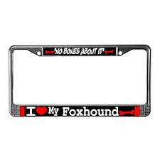 Foxhound License Plate Frame
