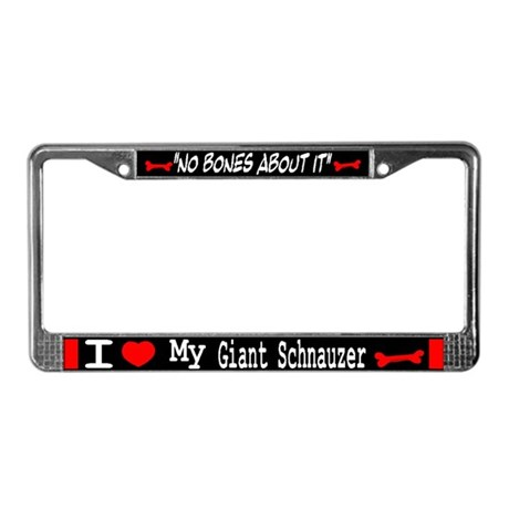 Giant Schnauzer Gifts License Plate Frame