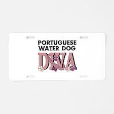 Portuguese DIVA Aluminum License Plate