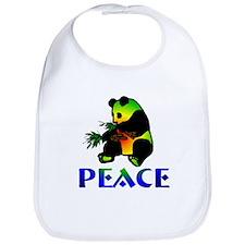 Peace Panda Bear Bib