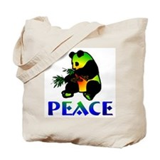 Peace Panda Bear Tote Bag