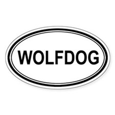 Wolfdog Euro Oval Decal