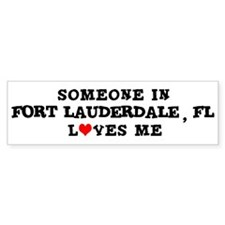 Someone in Fort Lauderdale Bumper Bumper Sticker