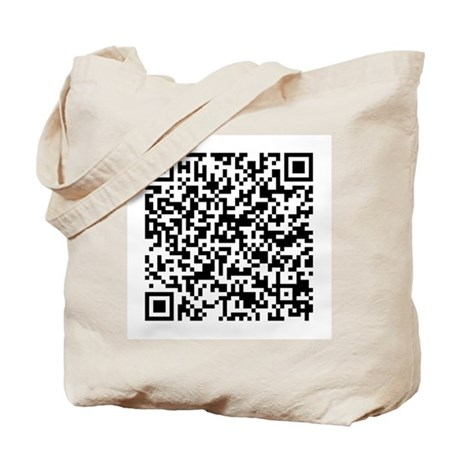 A 'Photo Description' Secret QR Code Tote Bag