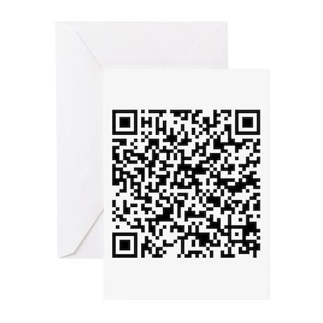 A 'Photo Description' Secret QR Code Greeting Card