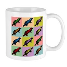 Honey Badger Pop Art Coffee Small Mugs