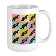 Honey Badger Pop Art Large Coffee Mug
