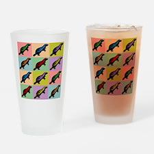 Honey Badger Pop Art Drinking Glass
