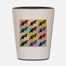 Honey Badger Pop Art Shot Glass