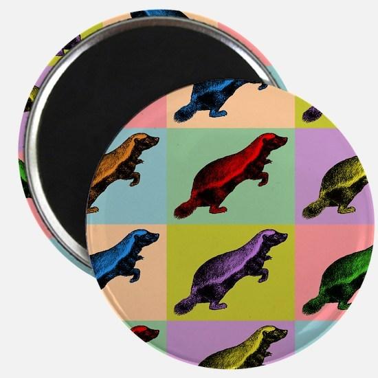 Honey Badger Pop Art Magnet