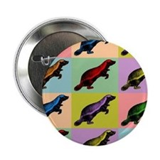 "Honey Badger Pop Art 2.25"" Button"