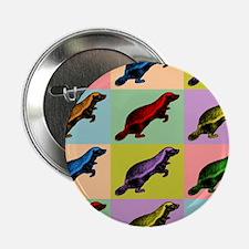 """Honey Badger Pop Art 2.25"""" Button"""