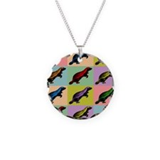 Honey Badger Pop Art Necklace Circle Charm