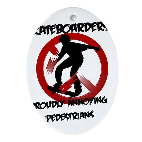 Skateboarders Ornament (Oval)