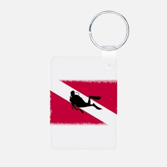 Scuba Diving Flag Keychains