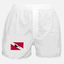 Scuba Diving Flag Boxer Shorts