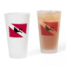 Scuba Diving Flag Drinking Glass