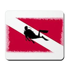 Scuba Diving Flag Mousepad