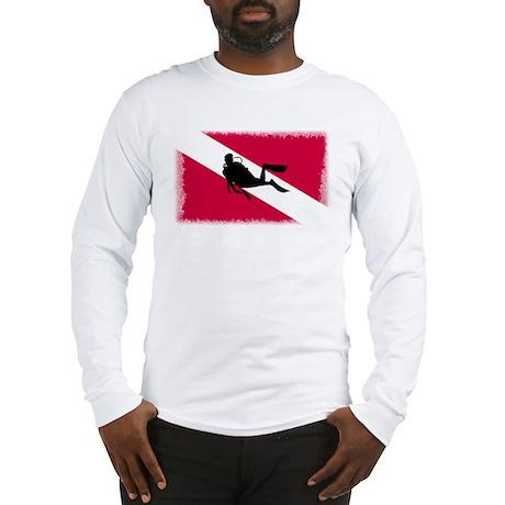 Scuba Diving Flag Long Sleeve T-Shirt