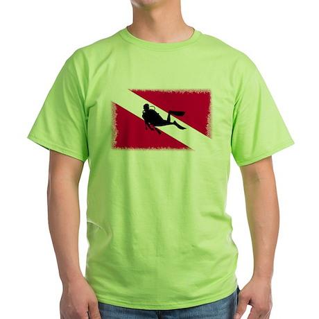 Scuba Diving Flag Green T-Shirt