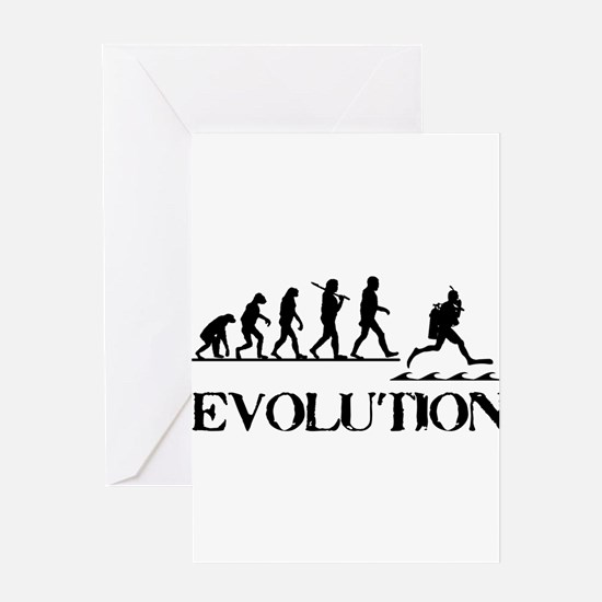Scuba Evolution Greeting Card