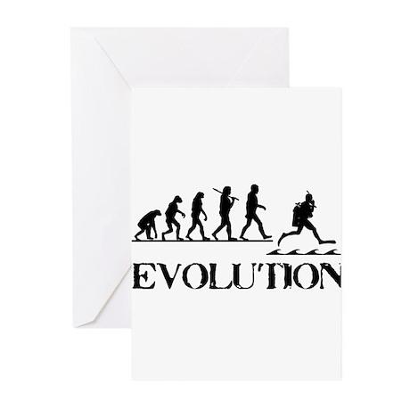 Scuba Evolution Greeting Cards (Pk of 10)