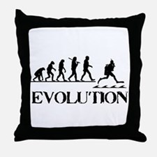 Scuba Evolution Throw Pillow
